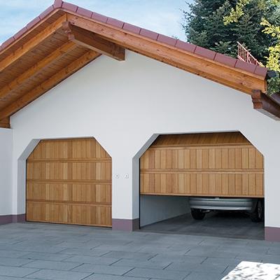 Garagentor Holz sektionaltore aus holz - ruku